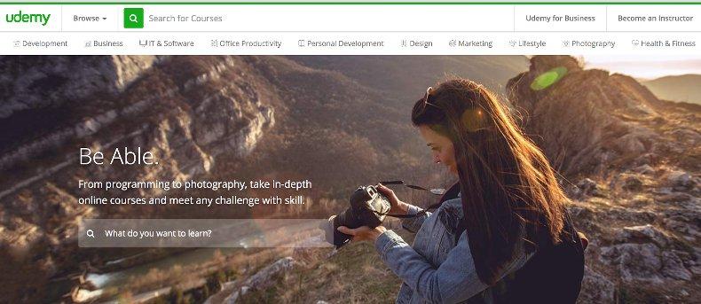 udemy review - screenshot image udemy website