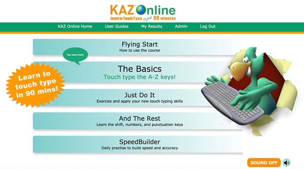 kaz-typing-tutor-courses