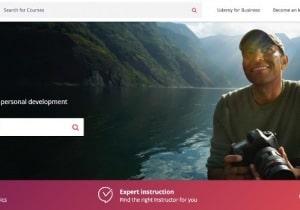 image of udemy frontpage website