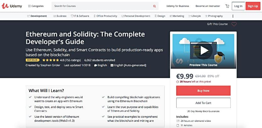 image of Udemy Single Course Page