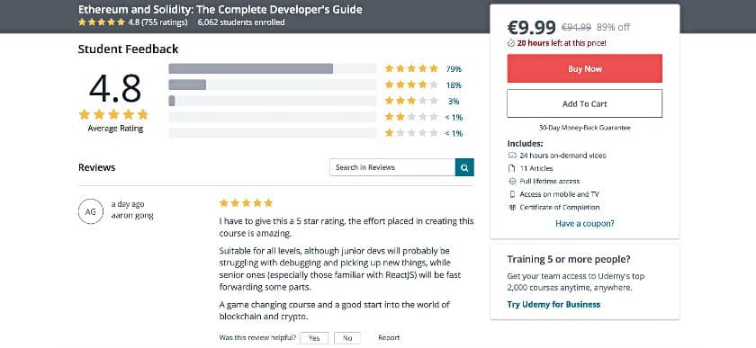 image of Section with udemy user-reviews