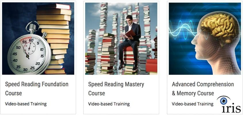 images of Iris Speed Reading training