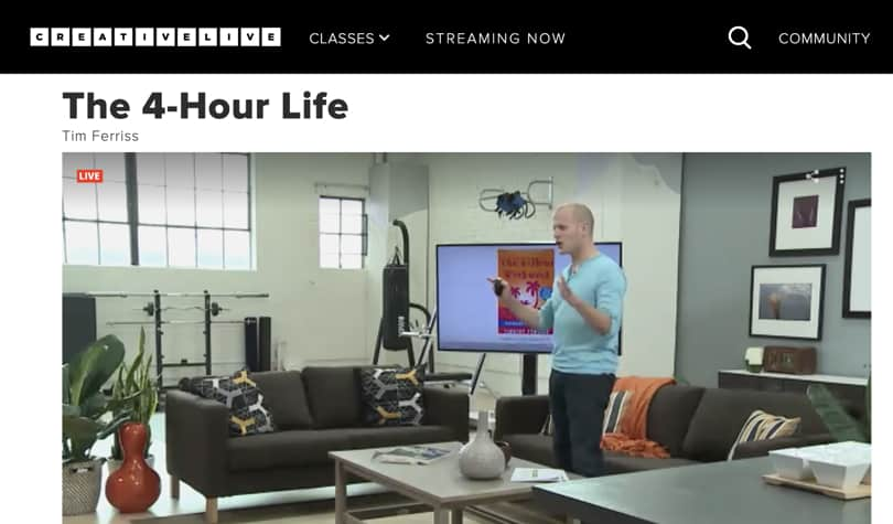 Image Best Personal Development Courses CreativeLive - 4 Hour Work Week