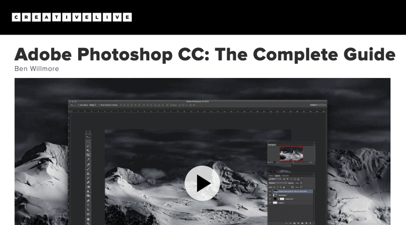 Image Best Photoshop Courses - Adobe Photoshop Complete Guide - Creativelive