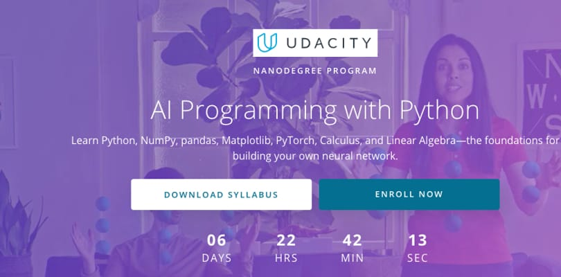 Image Best AI Courses - AI Programming with Python, Udacity