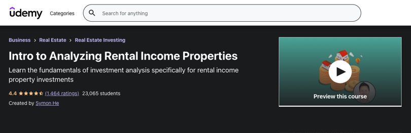 Image Real Estate Courses - Analyzing Rental Income Properties, Udemy