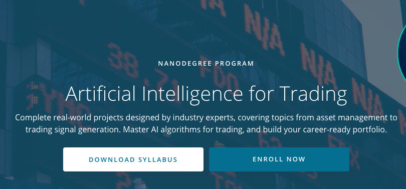 Image Best AI Courses - Artificial Intelligence For Trading, Udacity