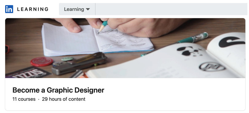 Image Best Graphic Design Courses - LinkedIn - Become a Graphic Designer