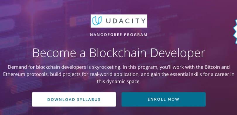 Image Blockchain Courses - Become A Blockchain Developer Certification, Udacity