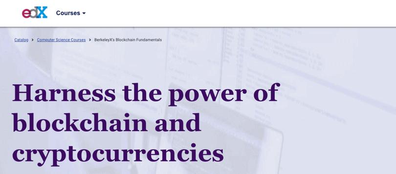 image berkeley blockchain & Cryptocurrency fundamentals - edx
