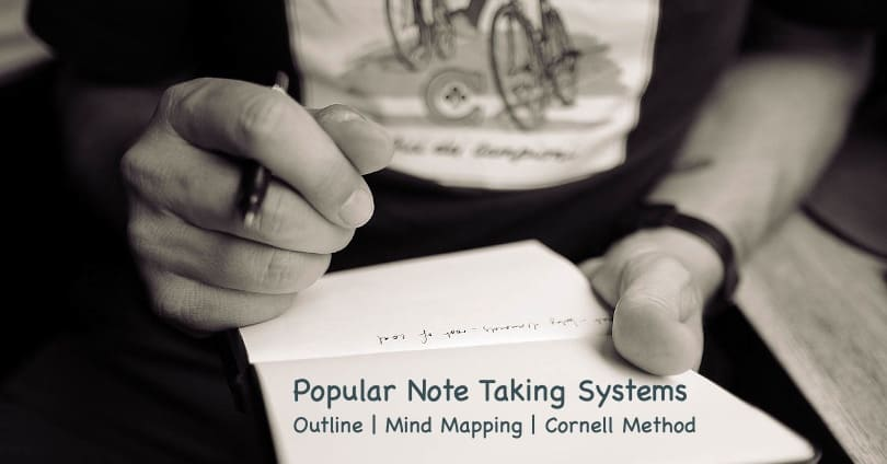 Image of Best note taking systems - Outline, Mind Mapping, Cornell Method