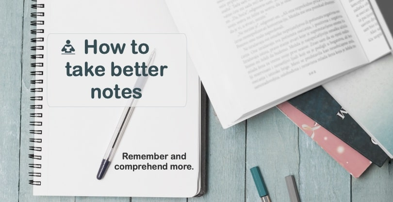 Image of How to better take notes - Note taking methods