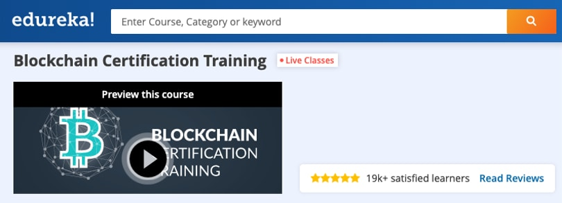 Image Blockchain Courses - Blockchain Certification Training, edureka