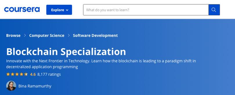 Image Blockchain Courses - Blockchain Course Specialization, Coursera