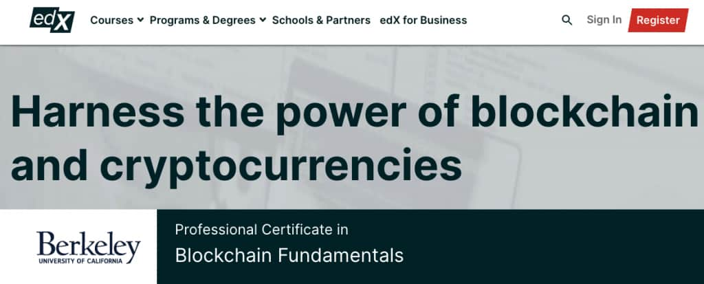 Image Blockchain Courses - Blockchain Fundamentals Certification, Berkeley, edX