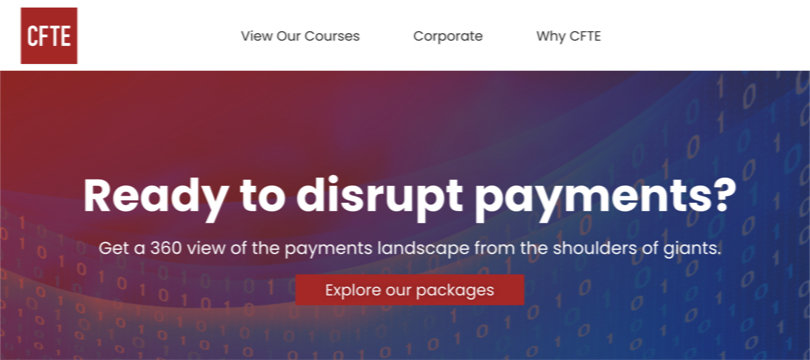 Image Fintech Courses - Payments in Digital Finance Specialization - CFTE