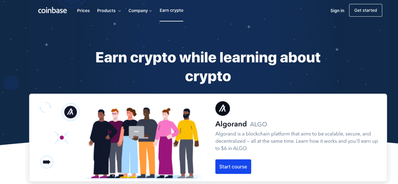 Image Coinbase cryptocurrency courses - learn and earn