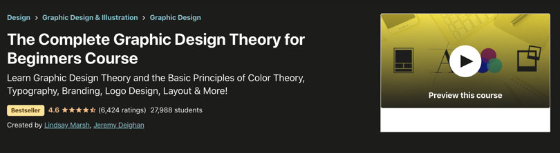 Image Best Graphic Design Courses - Udemy - Complete Graphic Design Theory