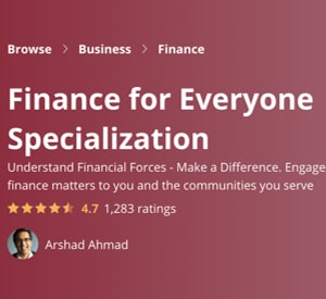Image Coursera Specializations - Finance For Everyone Specialization