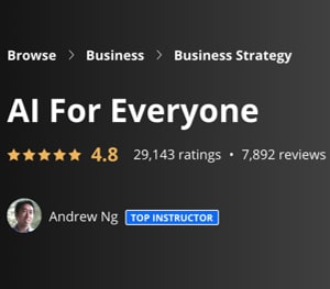 Image Best Coursera Courses - AI for Everyone