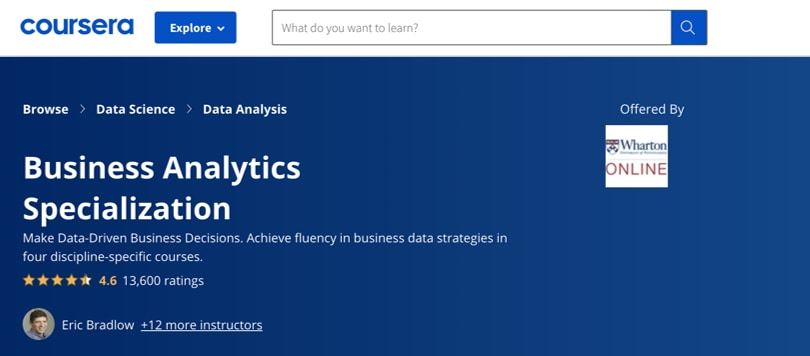 Image Business Analytics Courses - Coursera Business Analytics Specialization