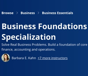 Image Coursera Specializations - Business Foundations