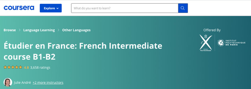 Image Coursera French Courses Online