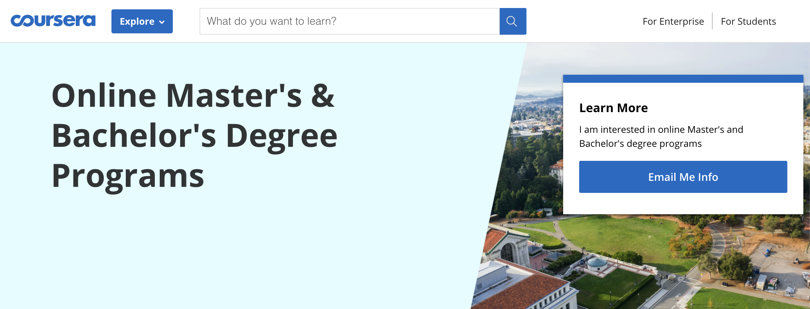 Image Coursera Online Masters & Bachelor Degrees