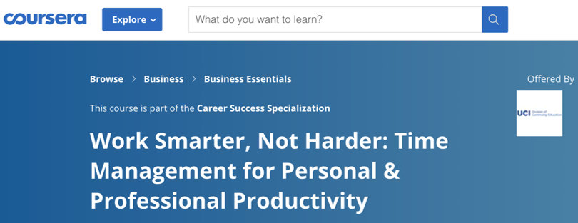 Image Best Productivity Courses - Coursera - Work Smarter, Not Harder