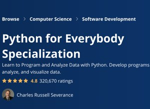 Image Coursera Specializations - Python for Everybody