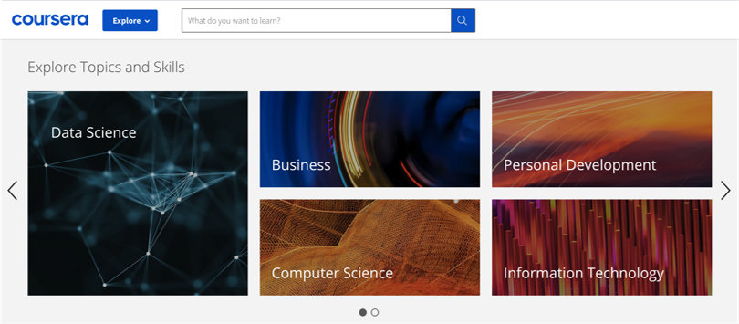 Image Coursera Review - Browse Topics
