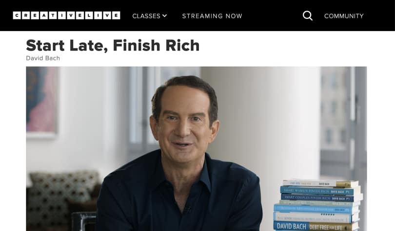 Image Best CreativeLive Courses - Start Late, Finish Rich - David Bach