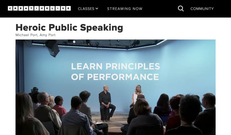 Image of Best CreativeLive Courses - Heroic Public Speaking