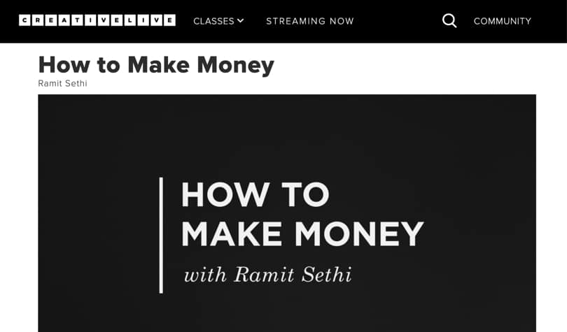 Image of Best CreativeLive Courses - How to make money
