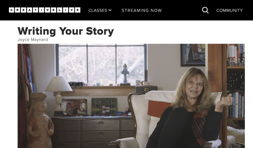 Image Best CreativeLive Courses - Writing Your Story - Joyce Maynard