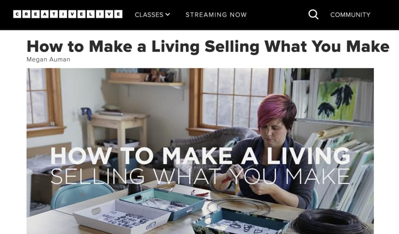 Image of Best CreativeLive Courses - Selling What You Make