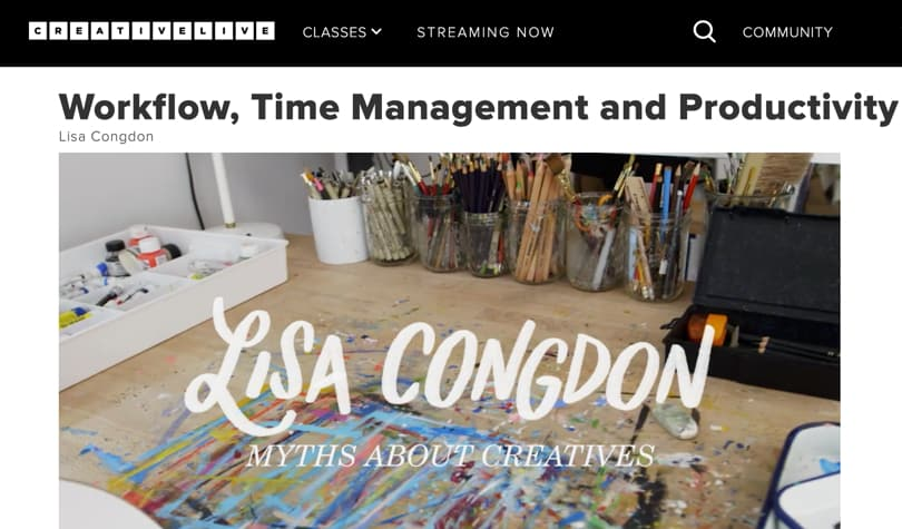Image of Best CreativeLive Courses - Workflow, time management and productivity for creatives