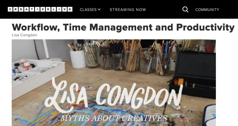 Image Best Productivity Courses - Creativelive - Workflow and Time Management