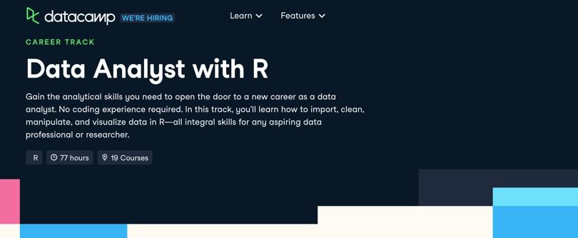 Image Data Analytics Courses - Data Analyst with R, Datacamp