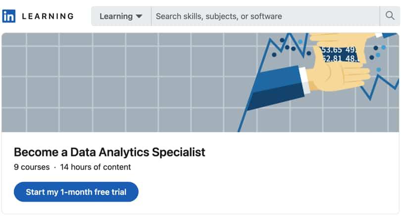 Image Data Analytics Courses - Data Analytics Specialist, LinkedIn