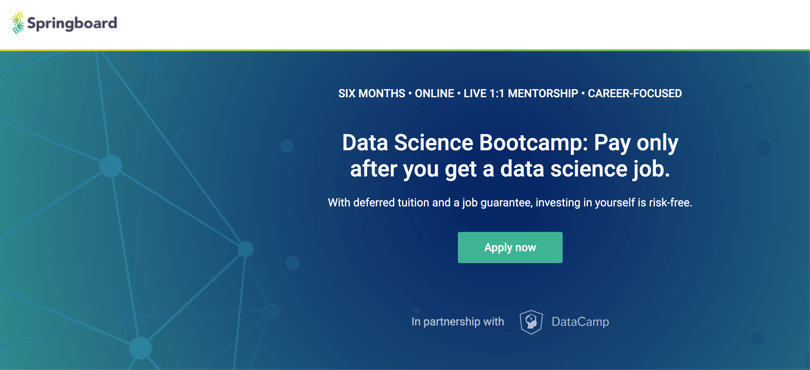 Image Data Science Courses - Data Science Bootcamp, Springboard
