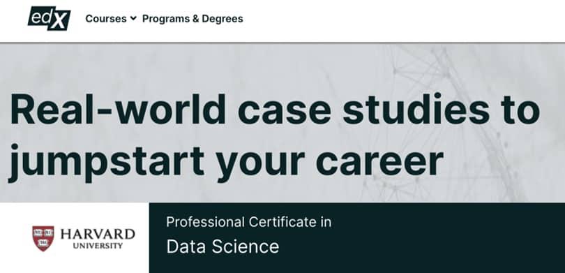 Image Data Science Courses - Data Science Harvard Certificate, edx