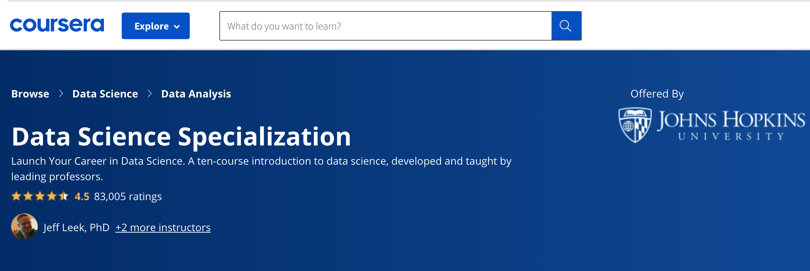 Image Data Science Courses - Data Science Specialist, Coursera