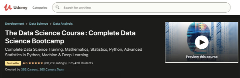Image Data Science Courses - Data Science Training, Udemy