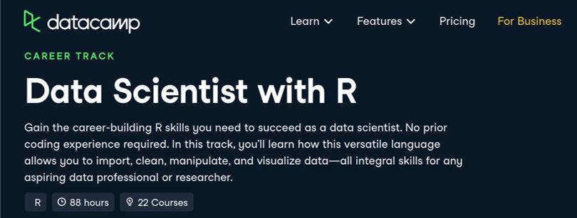 Image Data Science Courses - Data Scientist R, Datacamp