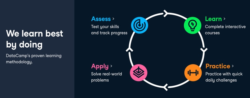 Image DataCamp Courses - Learning methodology