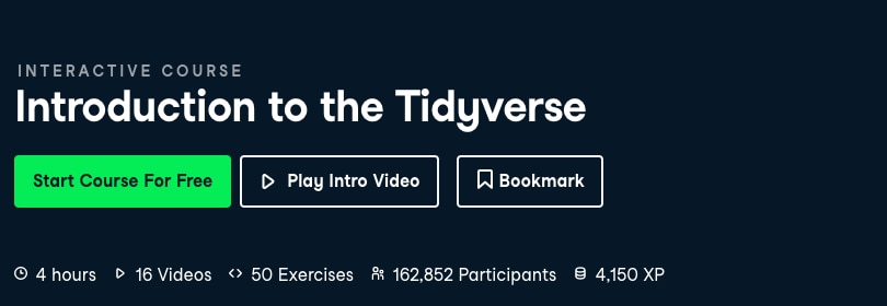 Image Best DataCamp Courses - Introduction to Tidyverse