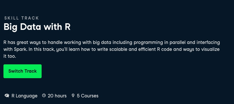 Image Best DataCamp Skill Tracks - Big Data with R