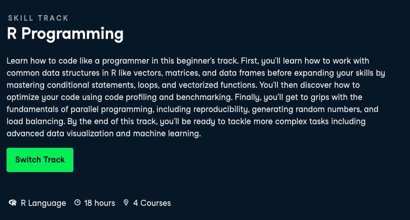 Image Best DataCamp Skill Tracks - R Programming