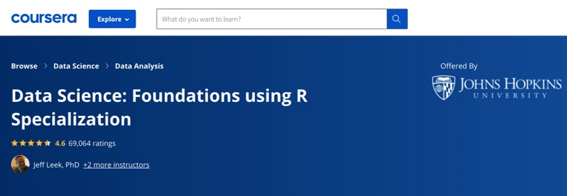 Image R Courses - Data Science with R, Specialization Coursera